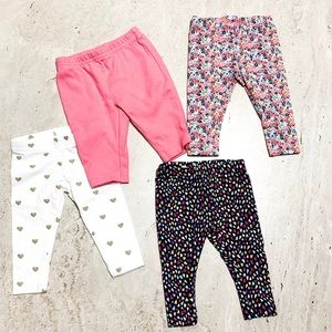 Set of 4 Carters Girls leggings
